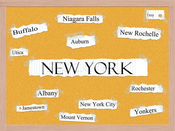 Stockfoto: New · York · woord · steden · New · York · City