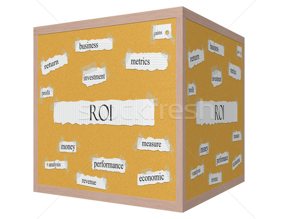 Roi 3D cubo palabra beneficio Foto stock © mybaitshop