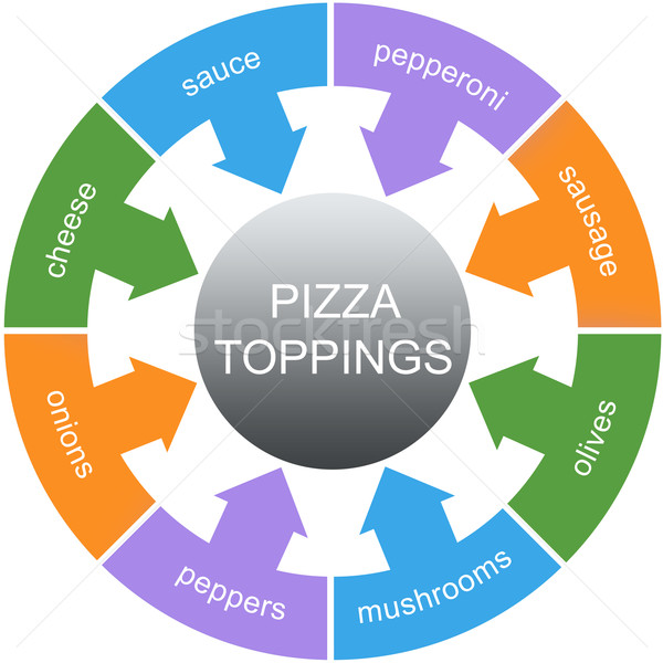 Pizza Toppings Word Circle Concept Stock photo © mybaitshop