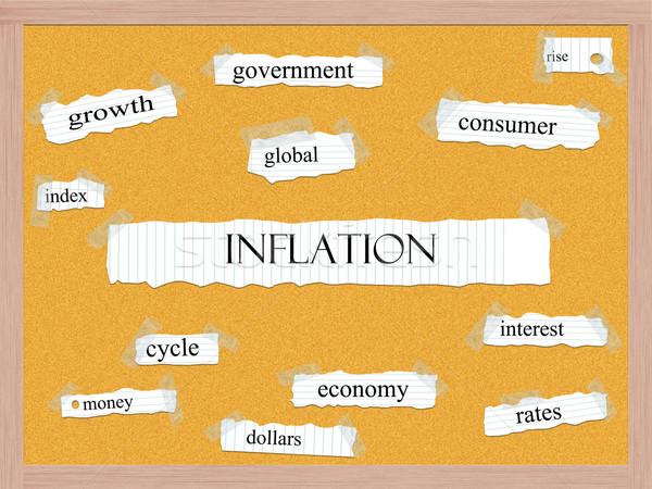 Inflation Corkboard Word Concept Stock photo © mybaitshop