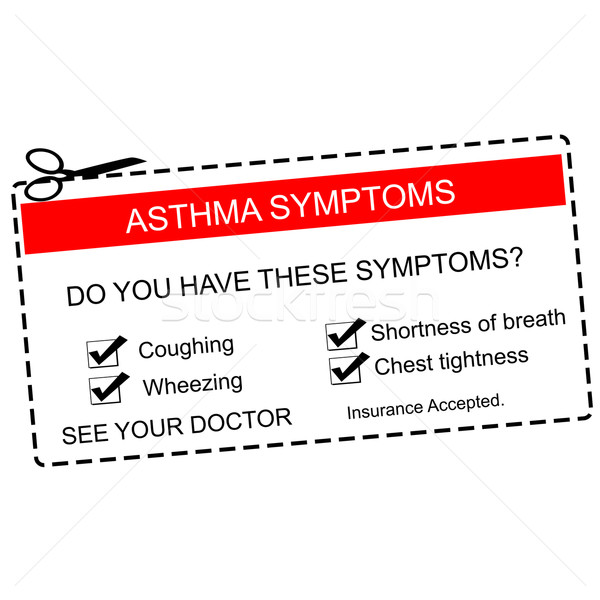 Red Asthma Symptoms Coupon Stock photo © mybaitshop