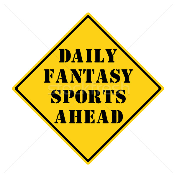 Diariamente fantasia esportes à frente assinar amarelo Foto stock © mybaitshop