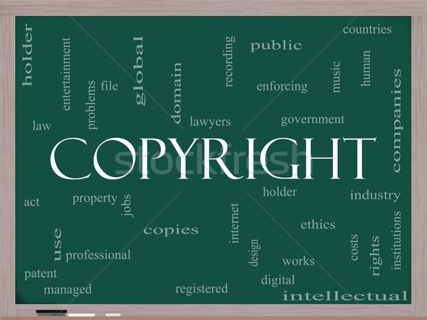著作権 言葉の雲 黒板 業界 デジタル もっと ストックフォト © mybaitshop