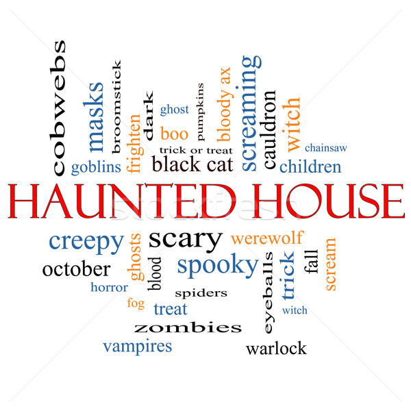 Haunted House Word Cloud Concept Stock photo © mybaitshop