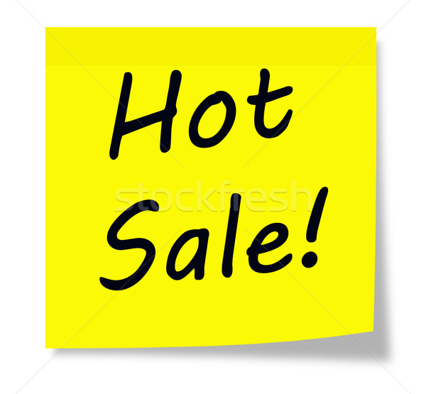 Hot Sale Sticky Note Stock photo © mybaitshop