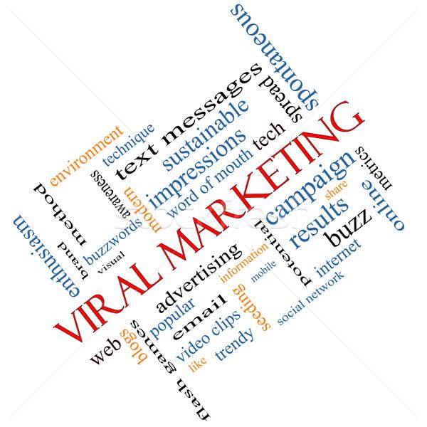вирусный маркетинга слово облако доске гул Сток-фото © mybaitshop