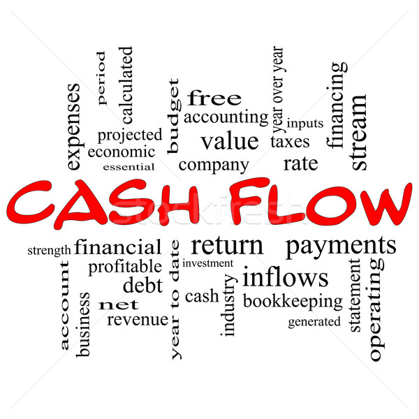Cash Flow Word Cloud Concept in red caps Stock photo © mybaitshop