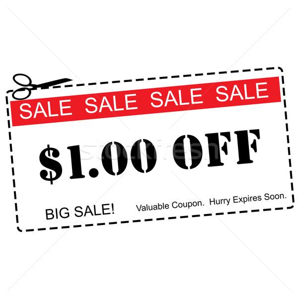 One Dollar Off Sale Coupon Stock photo © mybaitshop
