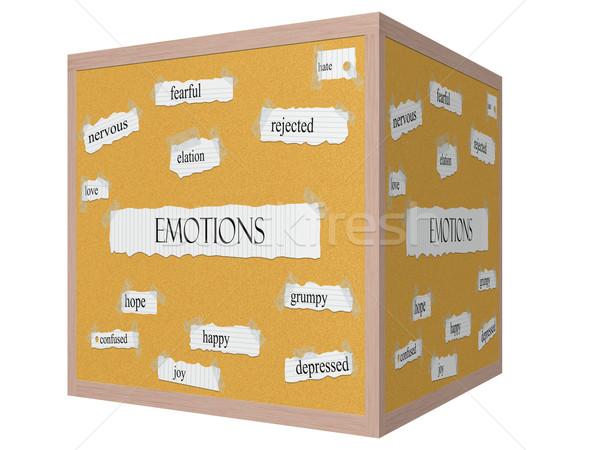 Emoties 3D kubus woord groot liefde Stockfoto © mybaitshop