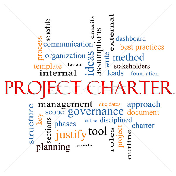 Project Charter Word Cloud Concept  Stock photo © mybaitshop