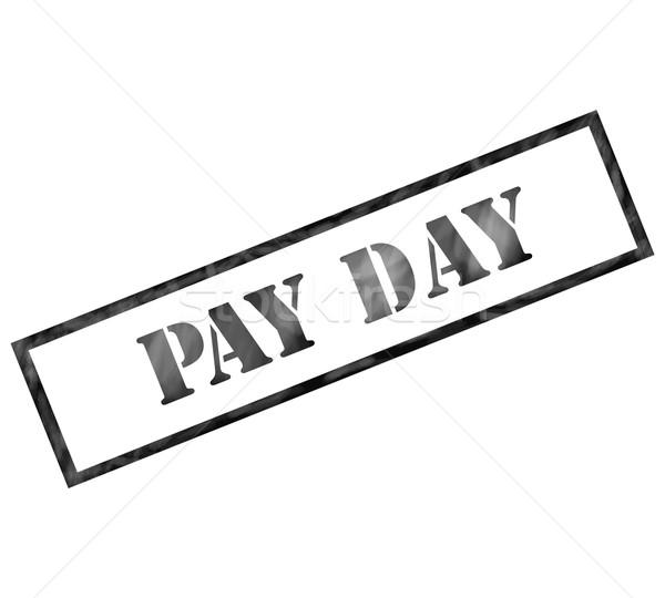 Pay Day black Rectangle weathered stamp Stock photo © mybaitshop