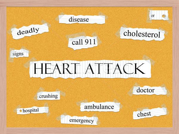 Heart Attack Corkboard Word Concept Stock photo © mybaitshop