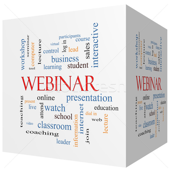 Webinar 3D cube Word Cloud Concept Stock photo © mybaitshop