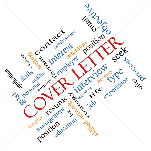 Cover Letter Word Cloud Concept Angled Stock photo © mybaitshop
