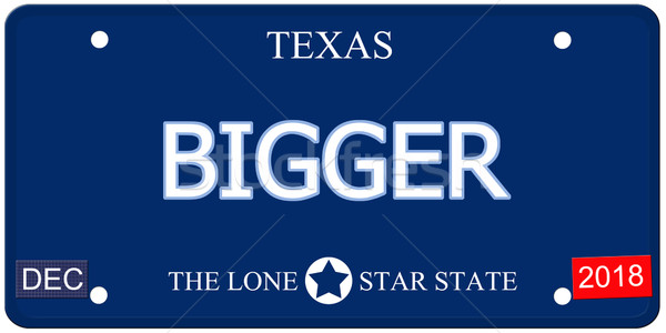 Texas imitación placa falso palabra Foto stock © mybaitshop