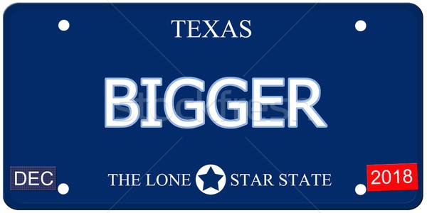 Texas imitazione targa falso parola Foto d'archivio © mybaitshop