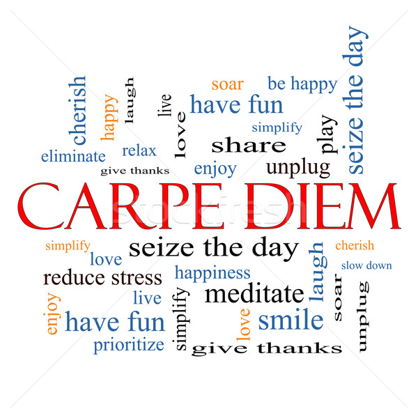 Stock photo: Carpe Diem Word Cloud Concept