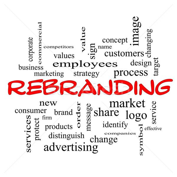 Kelime bulutu kırmızı muhteşem pazar iş logo daha fazla Stok fotoğraf © mybaitshop