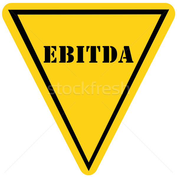 EBITDA Triangle Sign Stock photo © mybaitshop