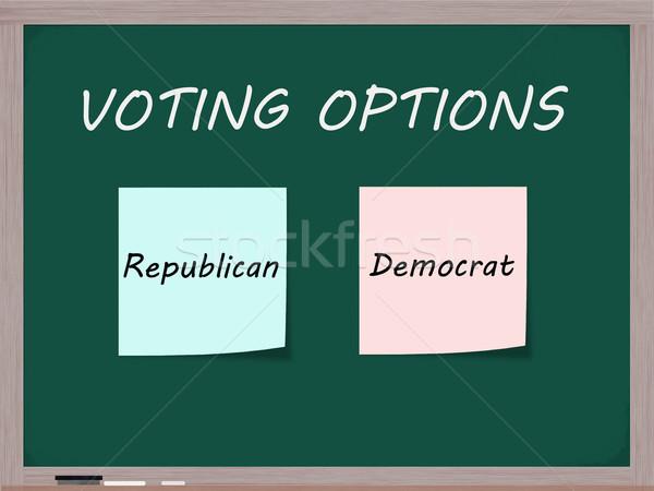 Vot optiuni tablă republican democrat Imagine de stoc © mybaitshop