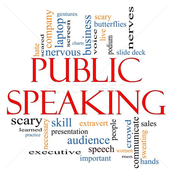 Public Speaking Word Cloud Concept Stock photo © mybaitshop