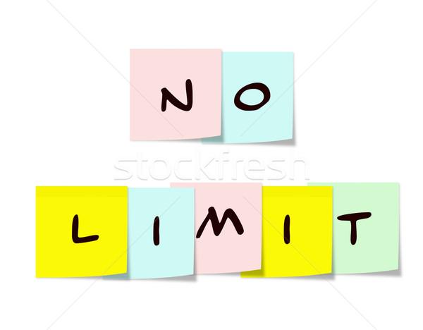 No Limit Sticky Notes Stock photo © mybaitshop