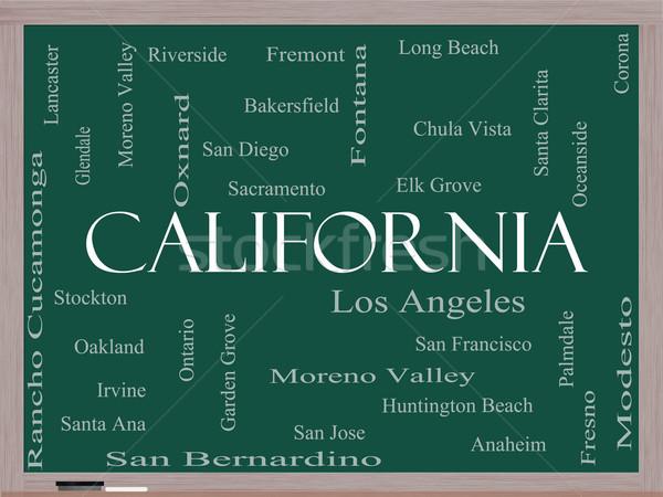 Калифорния слово облако доске 30 Сток-фото © mybaitshop