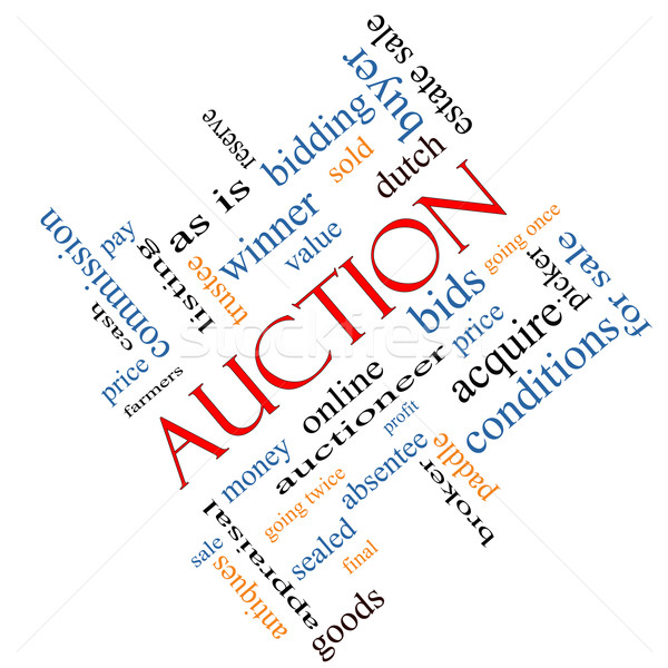 Auction Word Cloud Concept Angled Stock photo © mybaitshop