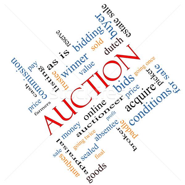 Auction Word Cloud Concept Angled Stock photo © mybaitshop