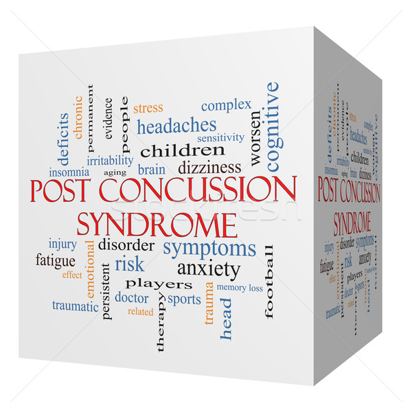 Post Concussion Syndrome 3D cube Word Cloud Concept Stock photo © mybaitshop
