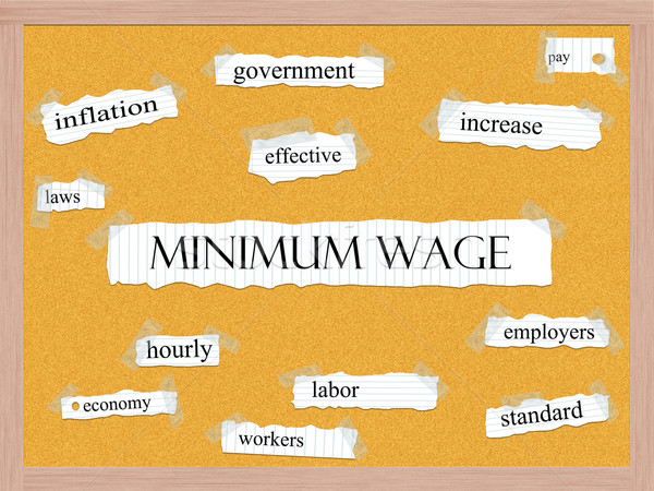Minimum Wage Corkboard Word Concept Stock photo © mybaitshop