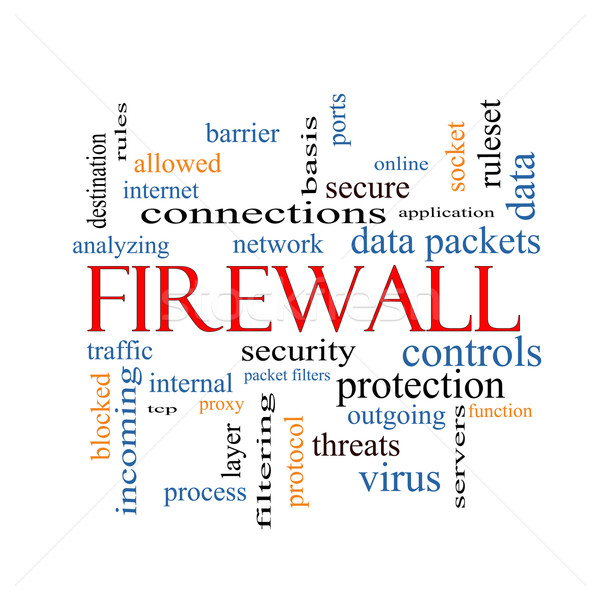 Firewall Word Cloud Concept Stock photo © mybaitshop