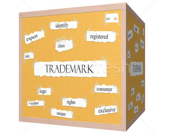 Védjegy 3D kocka szó nagyszerű jogok Stock fotó © mybaitshop