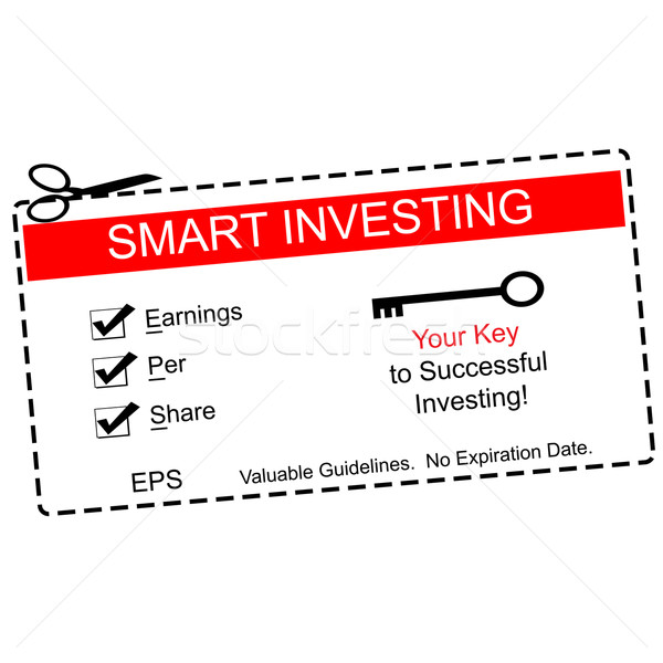 EPS Smart Investing Red Coupon Stock photo © mybaitshop