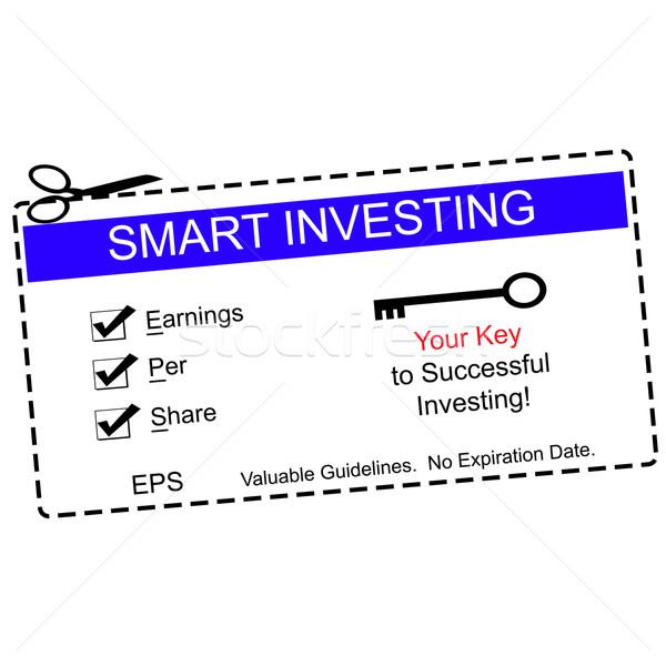 Eps okos befektetés kék utalvány kereset Stock fotó © mybaitshop