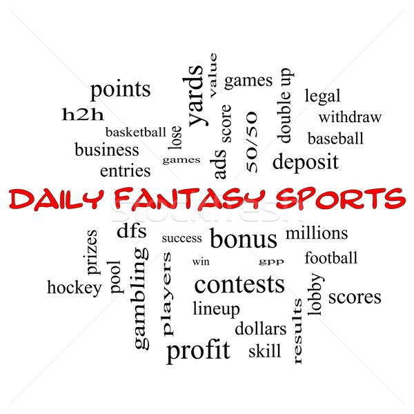ежедневно фантазий спортивных слово облако красный Сток-фото © mybaitshop