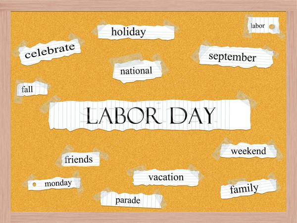 Labor Day Corkboard Word Concept Stock photo © mybaitshop