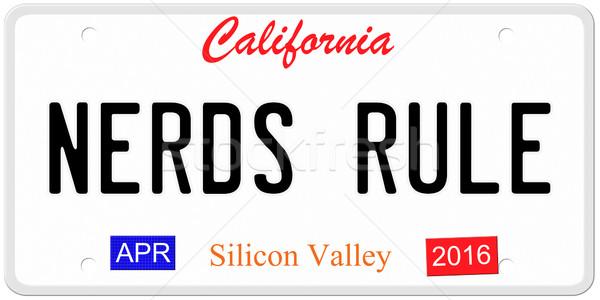 Governar placa imitação Califórnia 2016 adesivos Foto stock © mybaitshop