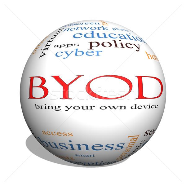 BYOD 3D sphere Word Cloud Concept Stock photo © mybaitshop