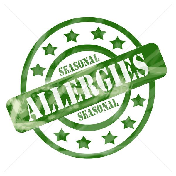зеленый выветрившийся сезонный штампа Круги Сток-фото © mybaitshop