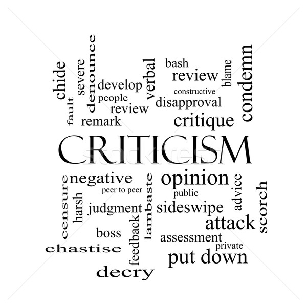 Criticism Word Cloud Concept in black and white Stock photo © mybaitshop