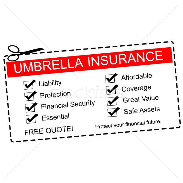 Umbrella Insurance Coupon Concept Stock photo © mybaitshop