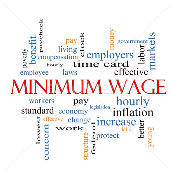 Minimum Wage Word Cloud Concept Stock photo © mybaitshop