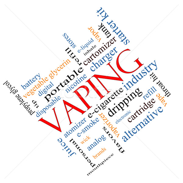 Vaping Word Cloud Concept Angled Stock photo © mybaitshop