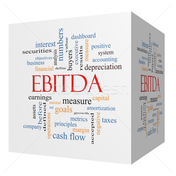 EBITDA 3D cube Word Cloud Concept Stock photo © mybaitshop
