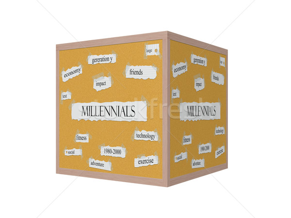 Millennials 3D Corkboard Word Concept Stock photo © mybaitshop