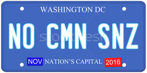 Geen zin Washington imitatie Washington DC kentekenplaat Stockfoto © mybaitshop