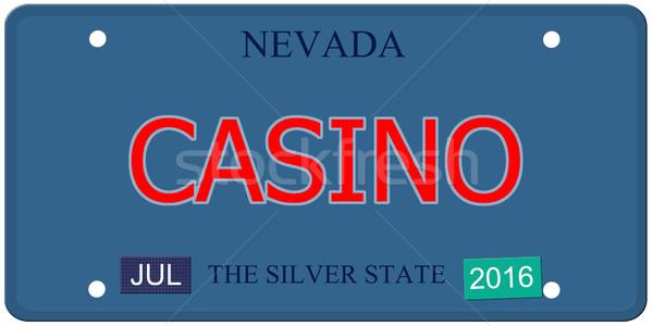 Cassino Nevada placa imitação 2016 adesivos Foto stock © mybaitshop