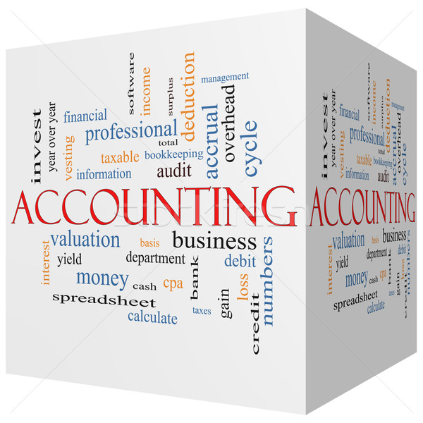 Accounting 3D Cube Word Cloud Concept Stock photo © mybaitshop