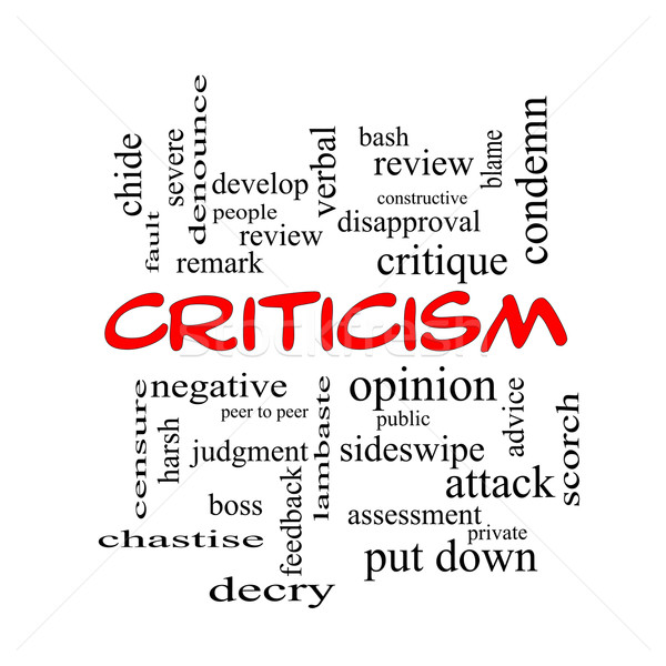 Criticism Word Cloud Concept in red caps Stock photo © mybaitshop